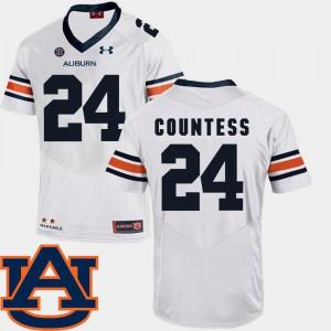 White SEC Patch Replica #24 Mens Blake Countess Auburn Jersey College Football 673343-353