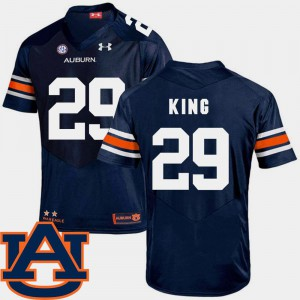 SEC Patch Replica Brandon King Auburn Jersey College Football Men Navy #29 830643-971