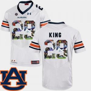Men #29 White Brandon King Auburn Jersey Football Pictorial Fashion 675296-720