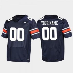 Replica Football For Men's Auburn Customized Jerseys Navy #00 272647-604