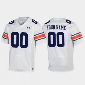 Replica #00 Football For Men's Auburn Custom Jersey White 656990-703