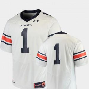 Team Replica Auburn Jersey For Men's College Football White #1 976811-300