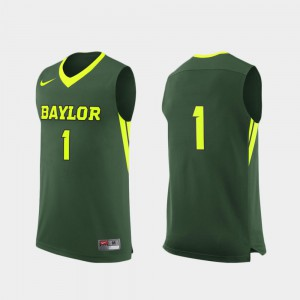 College Basketball #1 Green Replica For Men's Baylor Jersey 597775-143