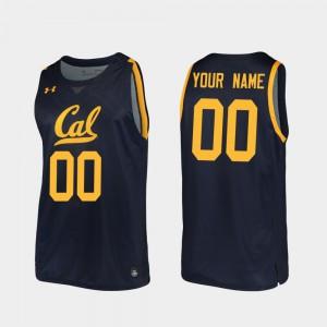 For Men's 2019-20 College Basketball #00 Navy Replica Cal Bears Customized Jerseys 363825-177