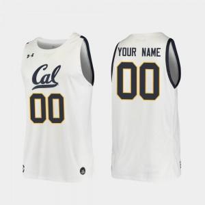 Cal Bears Custom Jerseys White Replica #00 2019-20 College Basketball Men 458594-531