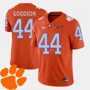 Men's Orange 2018 ACC College Football #44 B.J. Goodson Clemson Jersey 606295-710