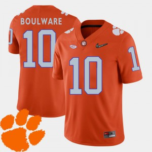 College Football Orange 2018 ACC Ben Boulware Clemson Jersey #10 Mens 237117-986