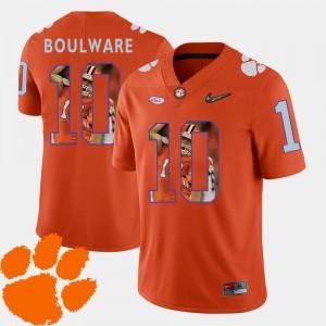 Pictorial Fashion Men Ben Boulware Clemson Jersey #10 Football Orange 564932-492