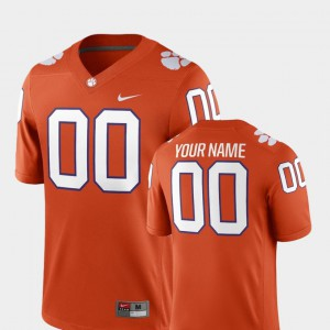 2018 Game Clemson Customized Jerseys For Men #00 Orange College Football 912668-327