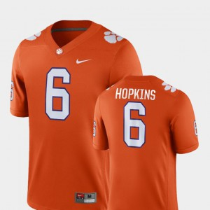 #6 Orange DeAndre Hopkins Clemson Jersey Mens Game College Football 212184-273
