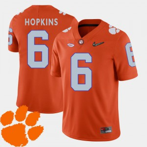 2018 ACC DeAndre Hopkins Clemson Jersey #6 For Men Orange College Football 389552-612