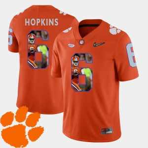 Orange Pictorial Fashion #6 Football Mens DeAndre Hopkins Clemson Jersey 262307-209