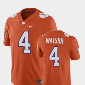 Deshaun Watson Clemson Jersey Player #4 For Men's Orange Alumni Football Game 266228-769