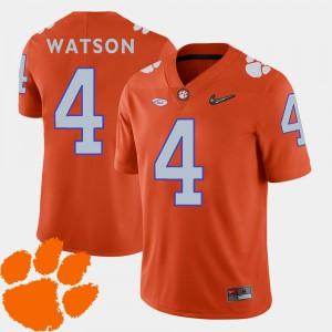 DeShaun Watson Clemson Jersey Men's College Football 2018 ACC #4 Orange 412967-562