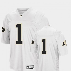 Men #1 White College Football Colosseum 2018 Colorado Jersey 317895-999
