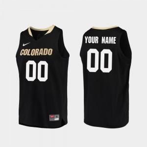 #00 Replica Men's Colorado Customized Jerseys Black College Basketball 779132-765
