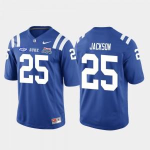 College Football Game Mens #25 Royal Deon Jackson Duke Jersey 2018 Independence Bowl 247827-294