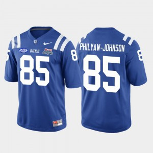 College Football Game Royal Damond Philyaw-Johnson Duke Jersey 2018 Independence Bowl #85 For Men 965084-643
