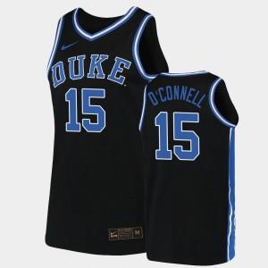 Alex O'Connell Duke Jersey Men's Replica 2019-20 College Basketball #15 Black 870599-731