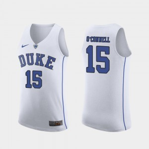 Authentic Alex O'Connell Duke Jersey March Madness College Basketball #15 White For Men's 193885-945