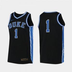 Replica #00 College Basketball Duke Jersey Black For Men 593085-408