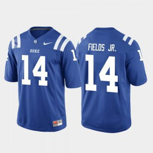 College Football Bryon Fields Jr. Duke Jersey Royal Men's #14 Game 162104-796