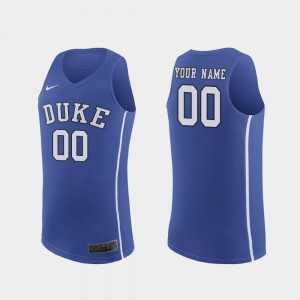 March Madness College Basketball #00 Royal Duke Custom Jersey Authentic Men's 356680-288