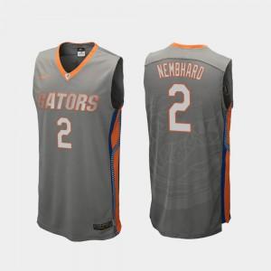 Replica Men's Andrew Nembhard Gators Jersey Gray #2 College Basketball 887198-920