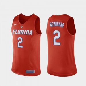 #2 Orange College Basketball Replica Men Andrew Nembhard Gators Jersey 862452-652
