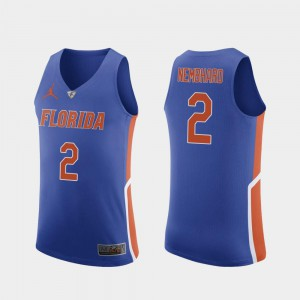 College Basketball Andrew Nembhard Gators Jersey Authentic #2 Royal For Men 237327-917