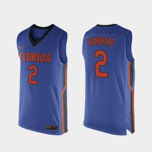 College Basketball Royal Blue Replica Andrew Nembhard Gators Jersey #2 For Men's 696510-290