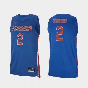 College Basketball #2 Royal Andrew Nembhard Gators Jersey Replica For Men's 557801-867
