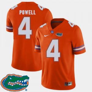 Brandon Powell Gators Jersey 2018 SEC Orange #4 Men's College Football 159999-262