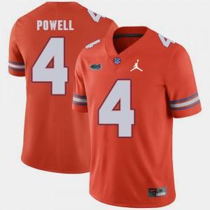 Replica 2018 Game Mens Brandon Powell Gators Jersey Orange Jordan Brand #4 737294-504