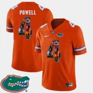 Football Brandon Powell Gators Jersey Pictorial Fashion Orange #4 Men's 968933-649