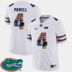 Football Pictorial Fashion For Men #4 White Brandon Powell Gators Jersey 784302-218