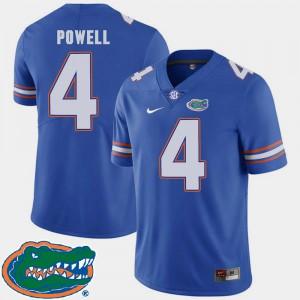 College Football 2018 SEC #4 Men Brandon Powell Gators Jersey Royal 245664-633