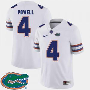 2018 SEC Brandon Powell Gators Jersey Mens #4 College Football White 449257-529
