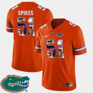 For Men's Football #51 Pictorial Fashion Brandon Spikes Gators Jersey Orange 927122-185