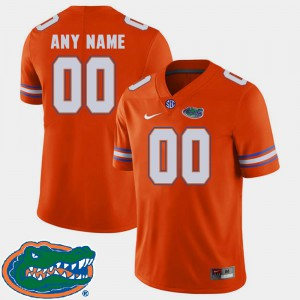 College Football Orange 2018 SEC Gators Customized Jersey #00 Mens 145784-370
