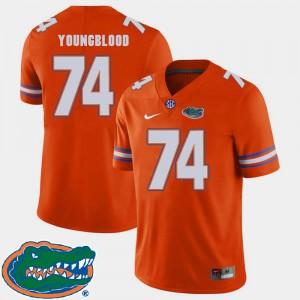 #74 2018 SEC Orange For Men College Football Jack Youngblood Gators Jersey 161435-237