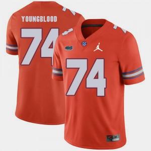 Replica 2018 Game For Men #74 Jack Youngblood Gators Jersey Orange Jordan Brand 313162-183