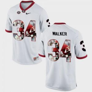 Men Pictorial Fashion Herschel Walker UGA Jersey #34 White 758269-985