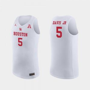 Men's College Basketball Replica White Corey Davis Jr. Houston Jersey #5 492256-275