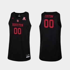 #00 Replica College Basketball Black Mens Houston Customized Jersey 263273-699