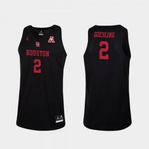 Black College Basketball #2 Replica Landon Goesling Houston Jersey For Men's 357543-372