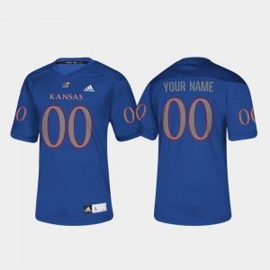 For Men KU Customized Jerseys #00 College Football Royal 152063-186