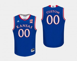 KU Customized Jerseys #00 Royal Men College Basketball 320338-223
