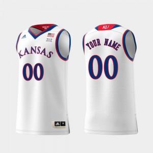 Replica #00 KU Customized Jersey White Swingman College Basketball Men 286755-442