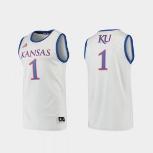 #1 Basketball Swingman KU Jersey Gray Men 578384-712